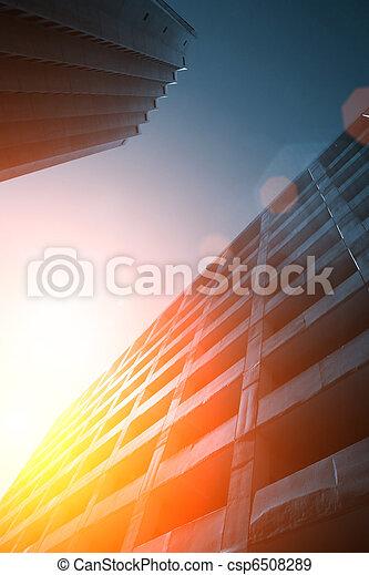 urbano, futuristico, fondo - csp6508289