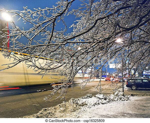 urbano, inverno - csp16325809