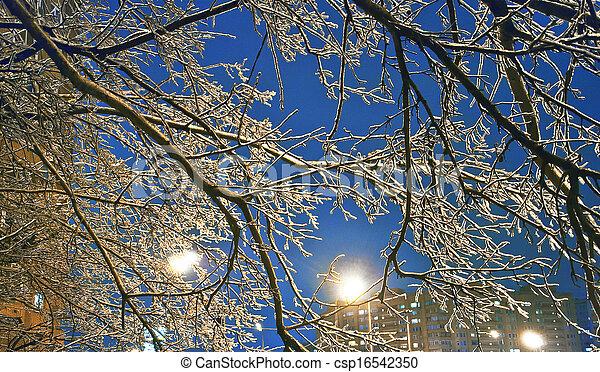 urbano, inverno - csp16542350