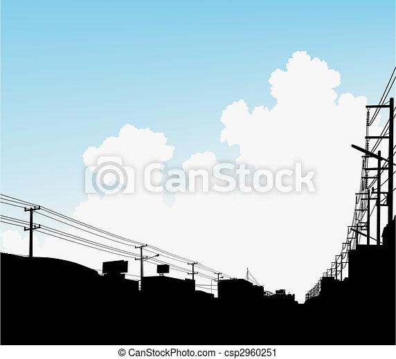 urbano, nubes - csp2960251