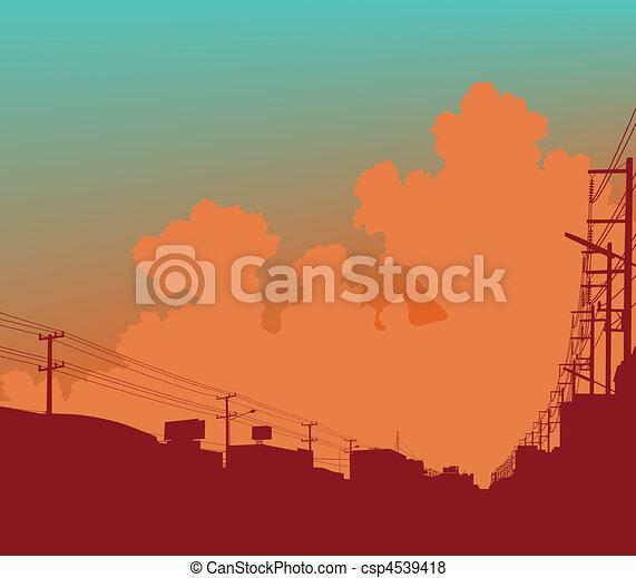 urbano, nuvens - csp4539418