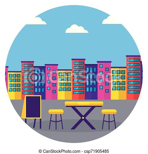 Comida callejera, restaurante urbano - csp71905485