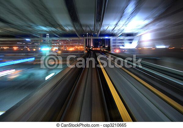 urbano, tráfego, noturna - csp3210665