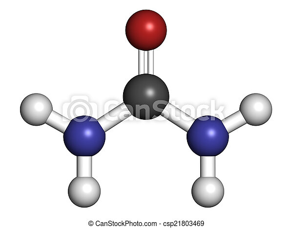 Urea (carbamide) molecule. Used in cosmetics, fertilizer; presen - csp21803469