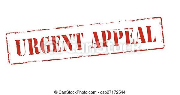Urgent appeal - csp27172544