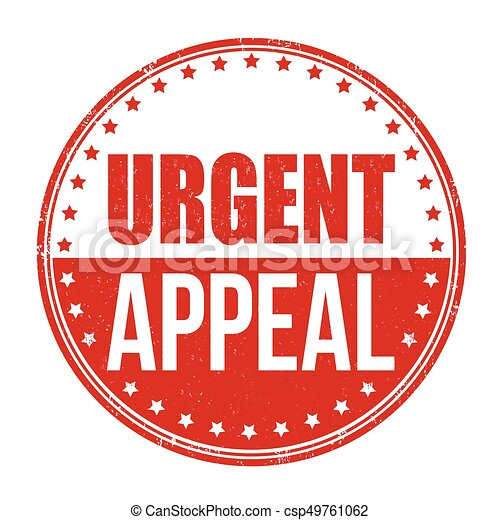 Urgent appeal sign or stamp - csp49761062