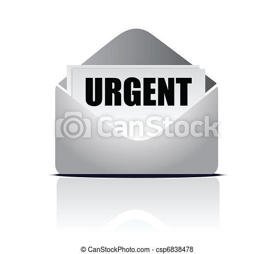 urgent delivery concept - csp6838478