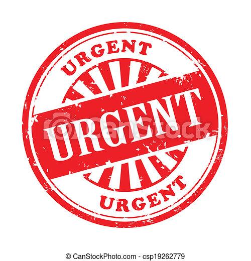 urgent grunge rubber stamp - csp19262779