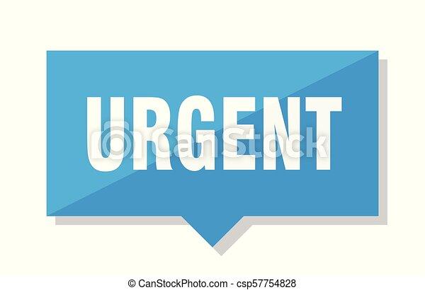 urgent price tag - csp57754828