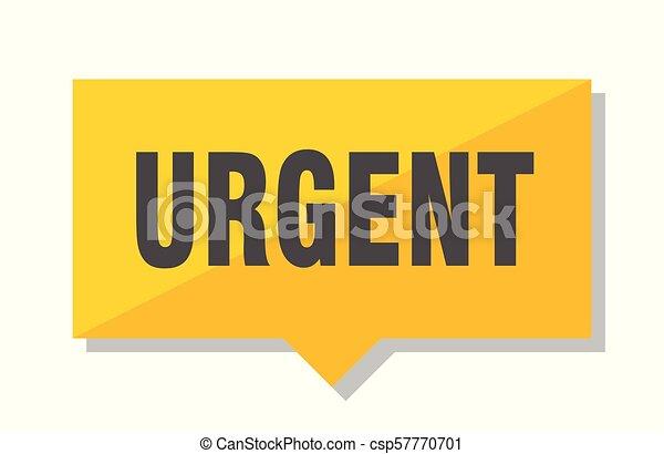 urgent price tag - csp57770701