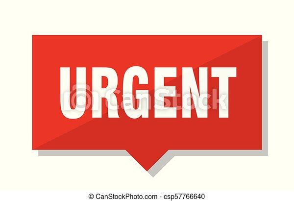 urgent red tag - csp57766640