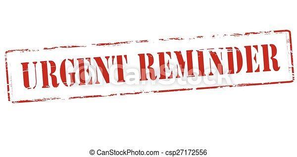 Urgent reminder - csp27172556