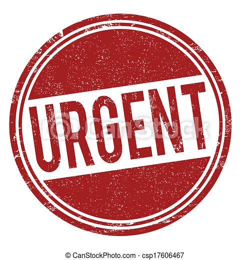 Urgent stamp - csp17606467