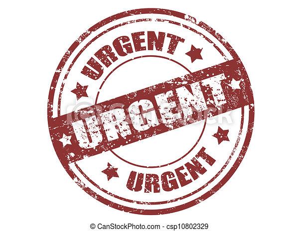 Urgent stamp - csp10802329
