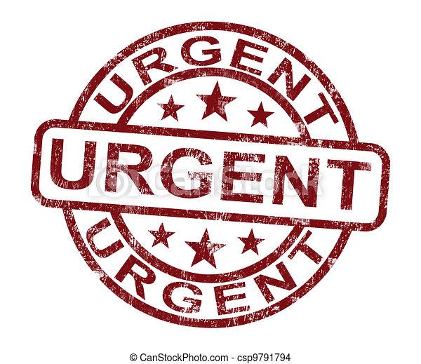 Urgent Stamp Shows Speedy Rush Delivery - csp9791794