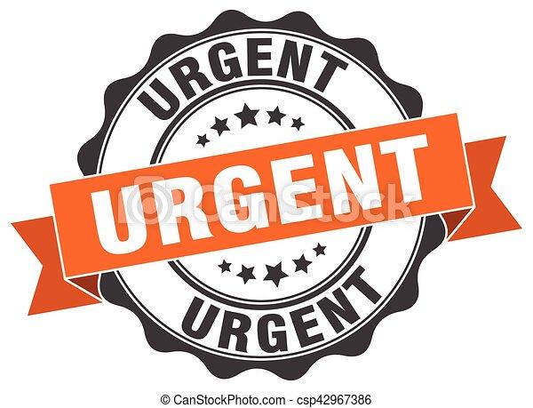 urgent stamp. sign. seal - csp42967386