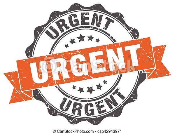 urgent stamp. sign. seal - csp42943971