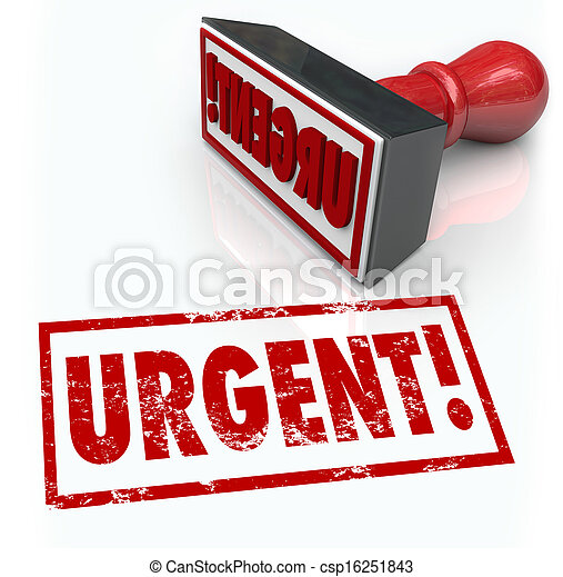Urgent Stamp Word Immediate Emergency Action Required - csp16251843