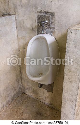 urinal in toilet mens bathroom csp38750191 - Mens Bathroom