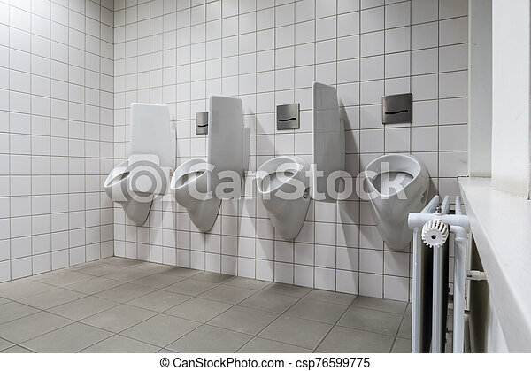 urinal on the wall - csp76599775