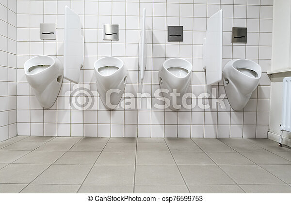 urinal on the wall - csp76599753