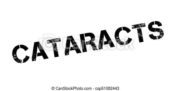urkundenstempel, katarakte - csp51082443