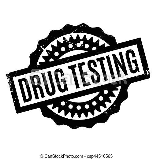 Drogentest, Gummistempel - csp44516565