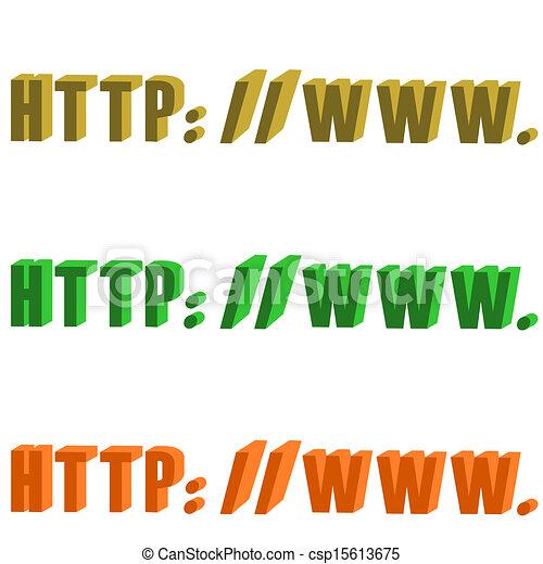 url, vuoto, 3d - csp15613675