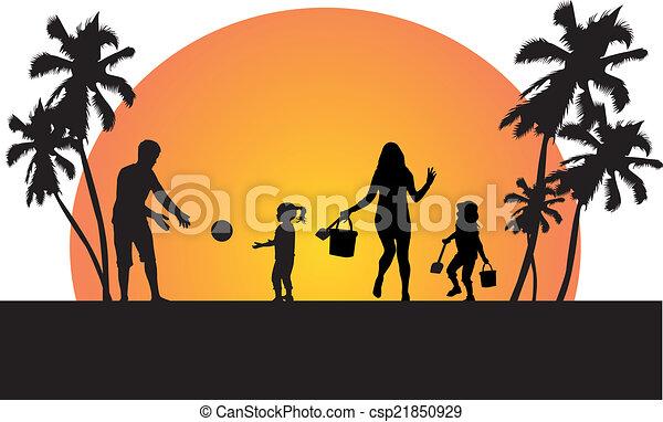 Familie im Urlaub - csp21850929