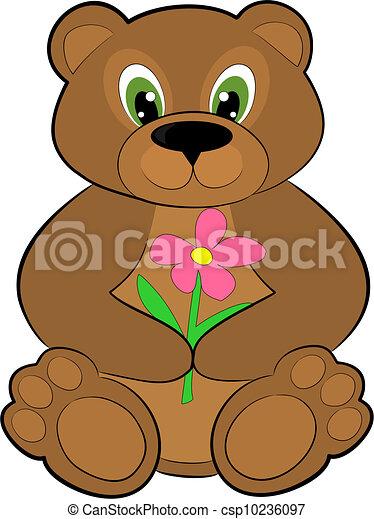 urso marrom marrom fundo branco urso isolamento