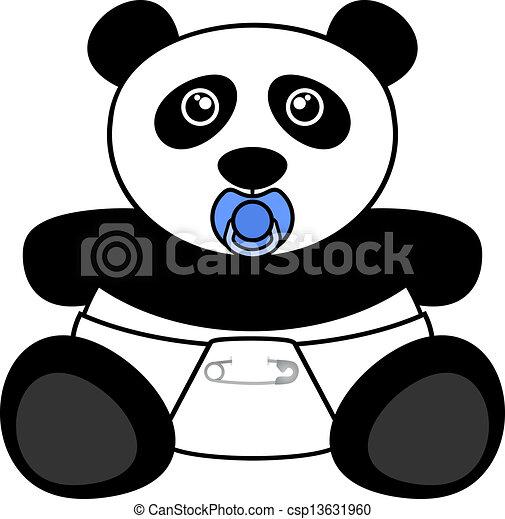 Muitas vezes Desenho, urso panda, criativo Clip Art Vetorizado - Faça Busca em  VX09