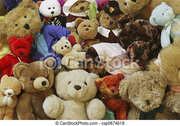 ursos, pelúcia - csp0674618