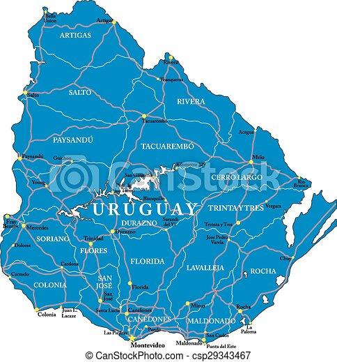 Uruguay map - csp29343467