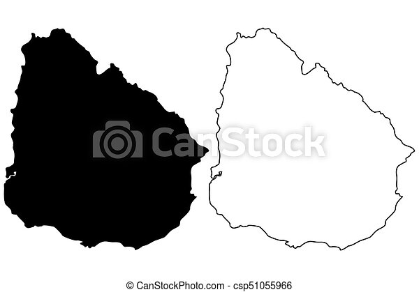 Uruguay map vector illustration scribble sketch uruguay clip art