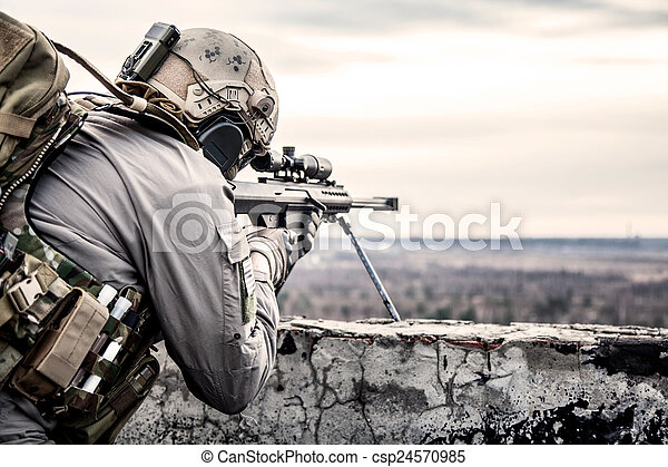 u.。s.。, 軍隊, 狙撃兵 - csp24570985