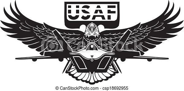 Us Air Force Military Design Vinyl Ready Vector