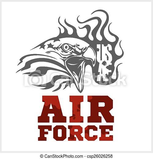 US Air Force - Military Design. vector illustration. - csp26026258