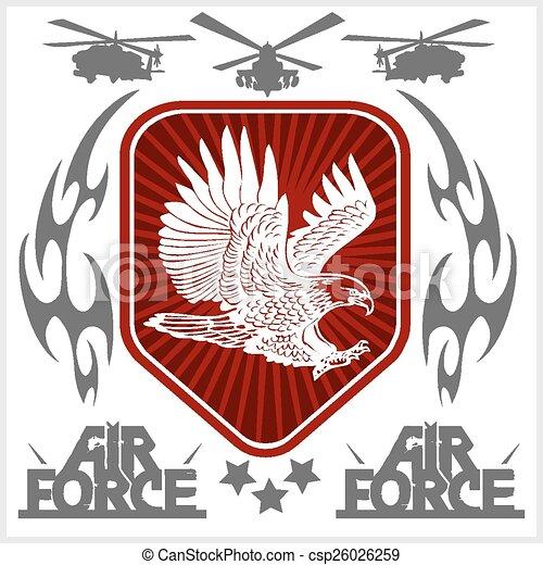 US Air Force - Military Design. vector illustration. - csp26026259