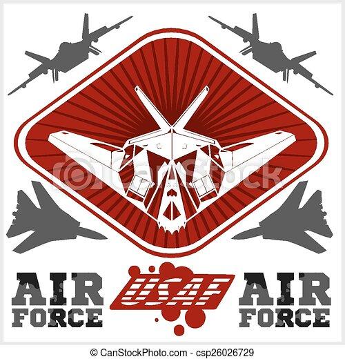 US Air Force - Military Design. vector illustration. - csp26026729