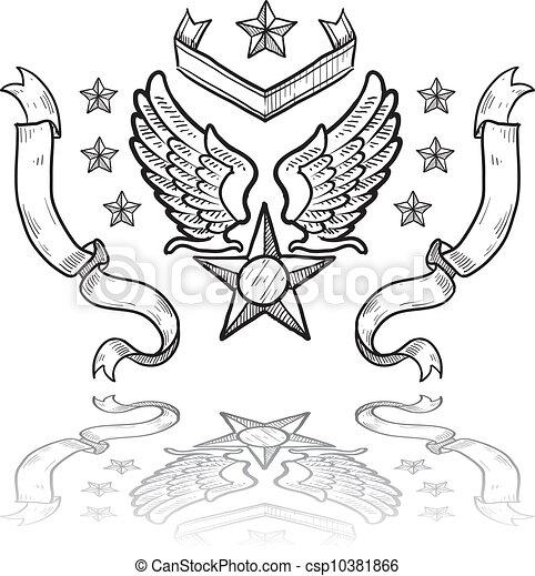 US Air Force military insignia - csp10381866