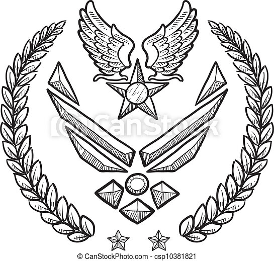 US Air Force Military Insignia - csp10381821