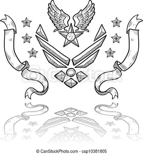 US Air Force military insignia - csp10381805