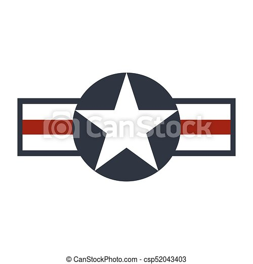 U.S. Army air force sign logo. Vector - csp52043403