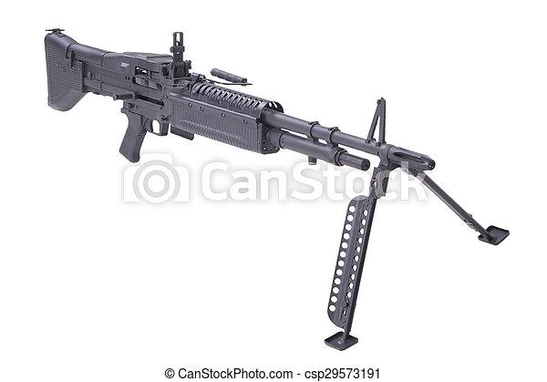us army m60 machine gun isolated on white background