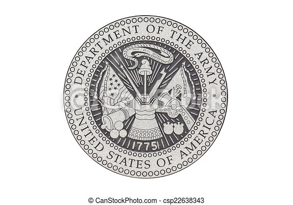 U.S. Army  official seal - csp22638343
