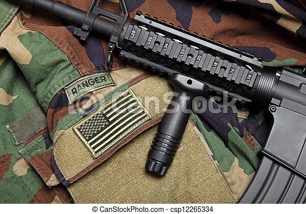 U.S. Army Ranger Still Life - csp12265334
