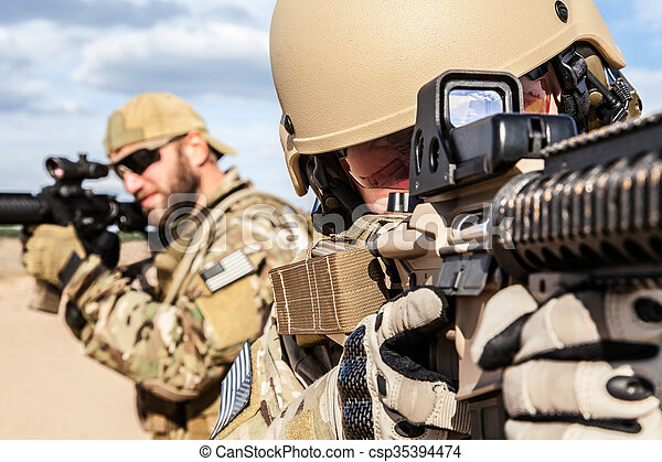 US Army Special Forces Group soldier - csp35394474