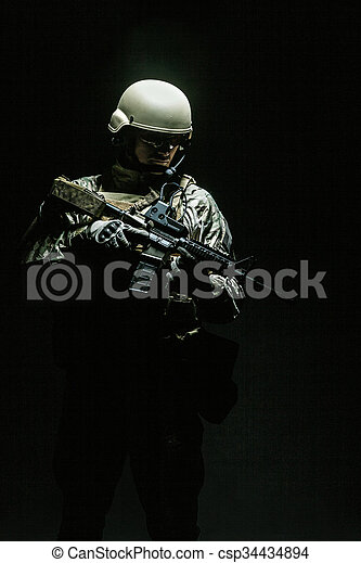 US Army Special Forces Group soldier - csp34434894