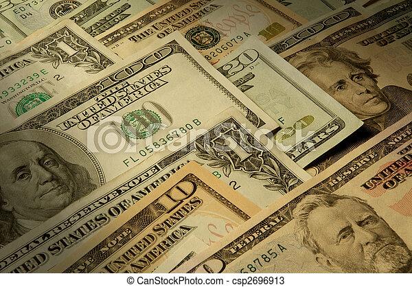 U.S. banknotes of various dollar denominations - csp2696913