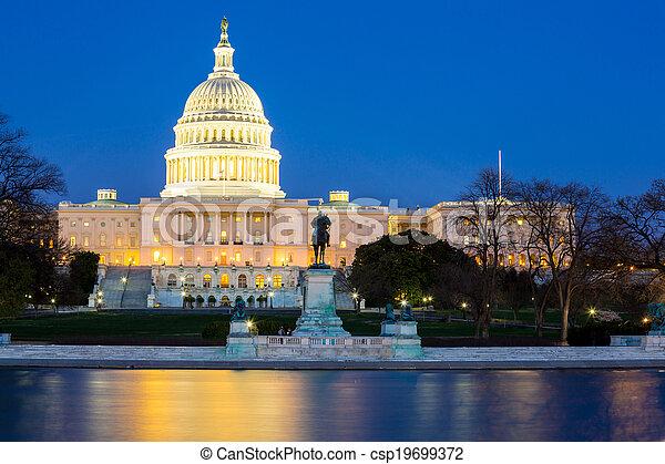US Capitol Building dusk - csp19699372